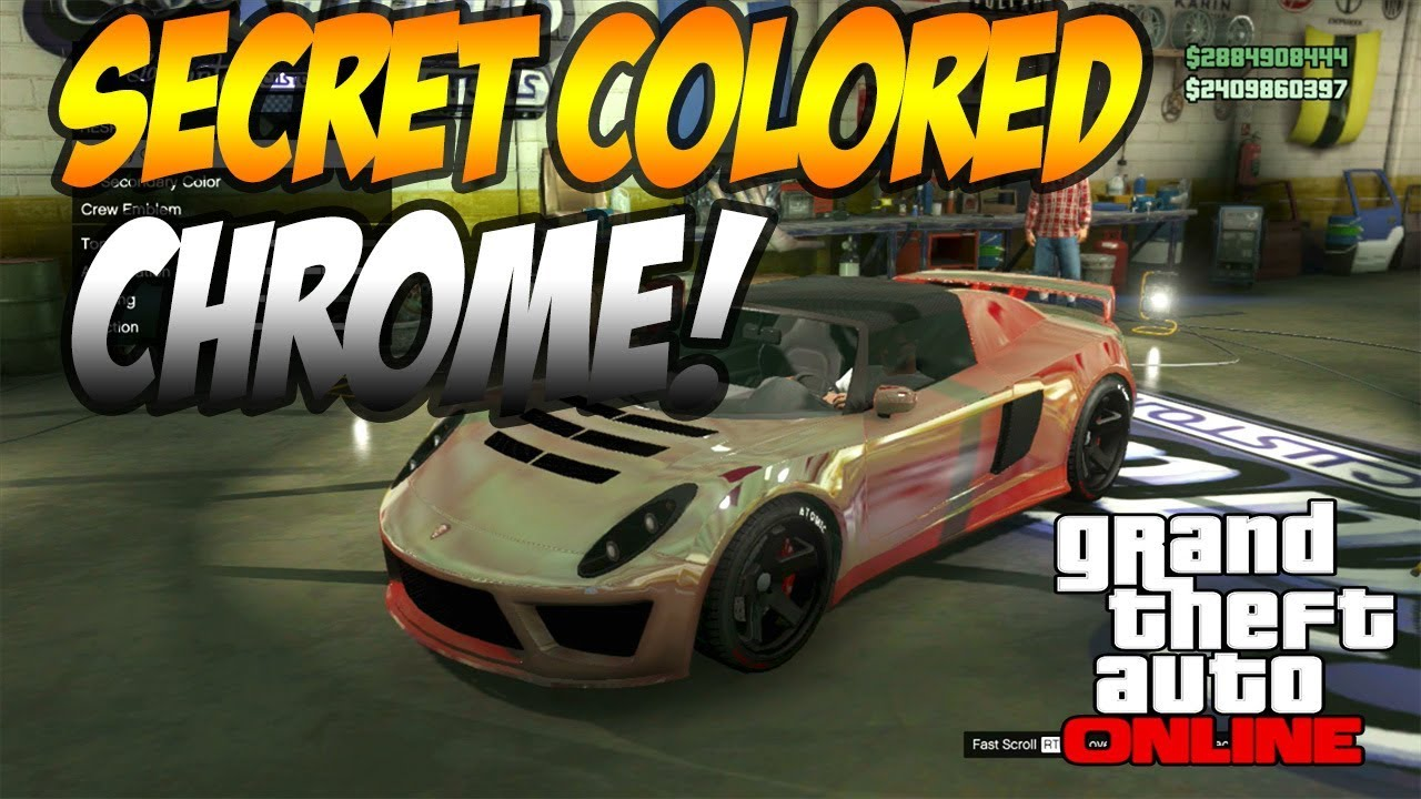 GTA 5 Online: How To Get Crew Coloured Chrome Cars! ''Crew Chrome Cars''  PS3 PS4 Xbox360 Xbox One