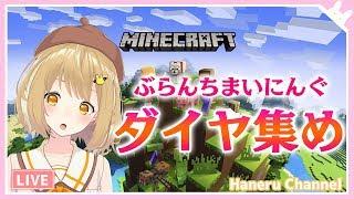 【Minecraft】ダイヤモンドを掘って億万長者になるぞー!【因幡はねる / あにまーれ】