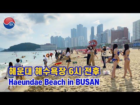 Download [4K] BUSAN Walk - The Scenery of HAEUNDAE Beach in the Summer Holiday Season, Beach in Korea.