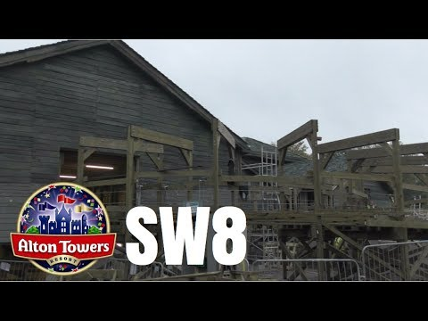 Alton Towers SW8 Construction Update - 23rd October 2017
