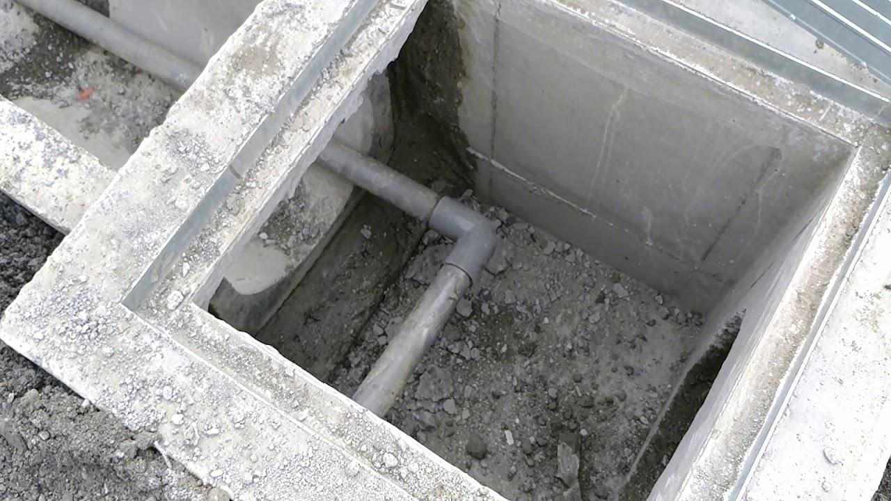 【利興水泥製品】在公司前闢一條預鑄水溝與陰井 - YouTube