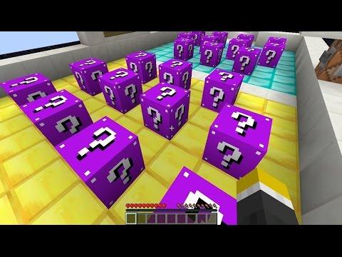 Minecraft MAGENTA LUCKY BLOCK vs ROBO-GUNNER