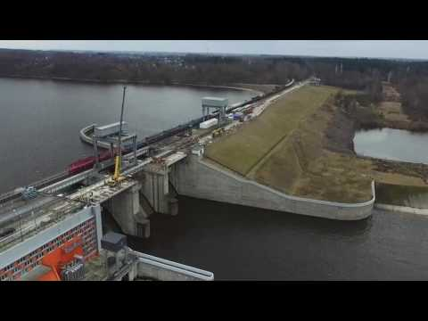 Tilto per Kauno hidroelektrinę rekonstrukcija artėja prie finišo
