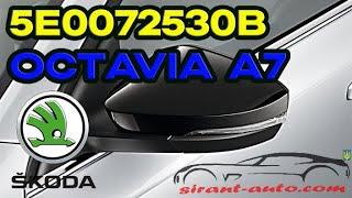 5E0072530B Корпуса зеркал Skoda Octavia A7