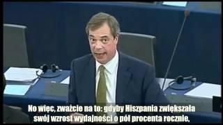 Nigel Farage: Rozpad euro jest nieunikniony