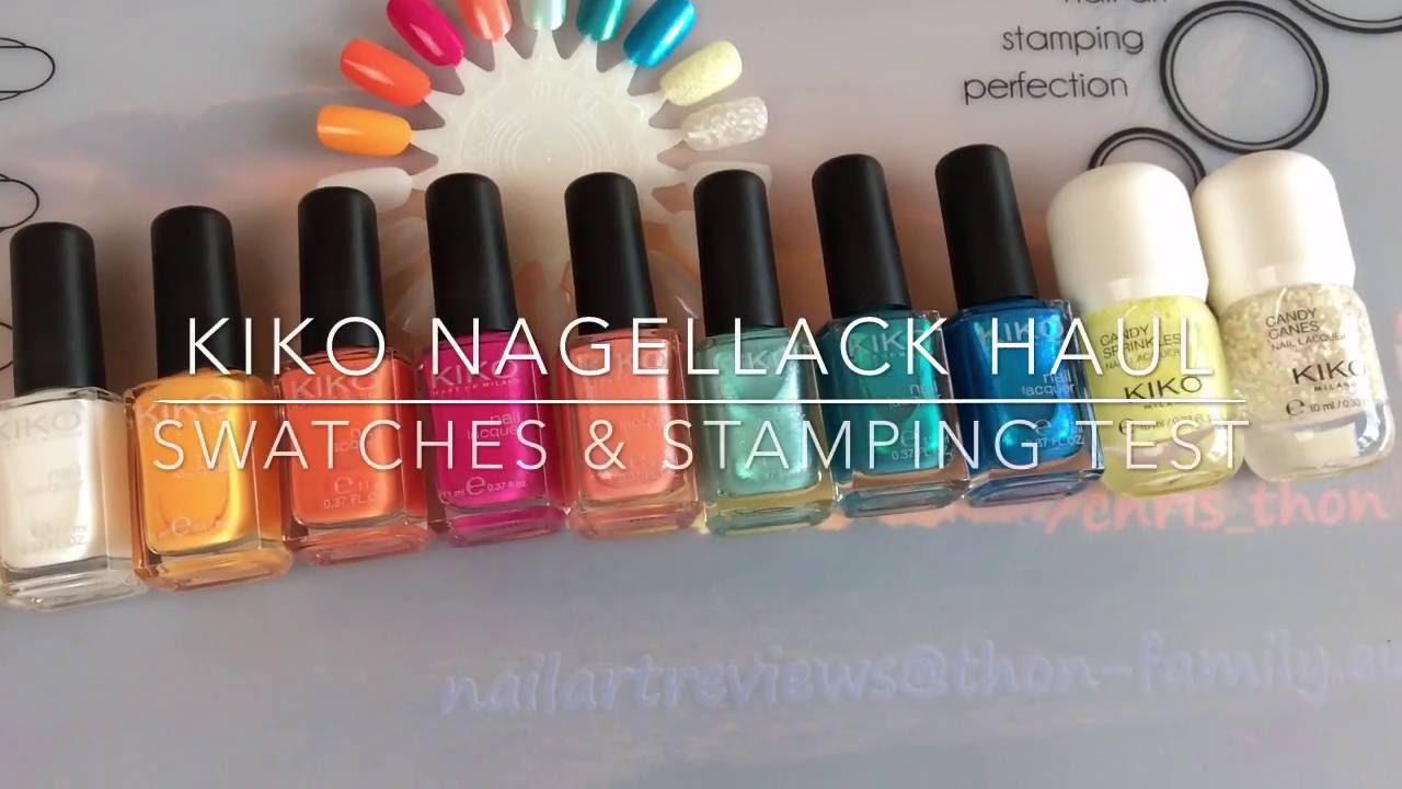 DEUTSCH* KIKO Nagellack Haul - Swatches & Stamping Test - YouTube