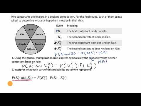 Interpreting general multiplication rule | Probability & combinatorics
