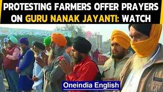 Guru Nanak Jayanti: Protesting farmers offer prayers at Tikri border in Delhi: Watch|Oneindia News