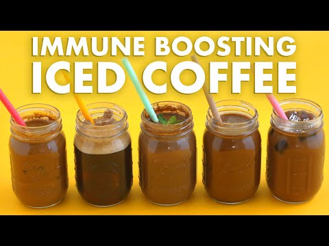 Immunity Boosting ICED COFFEE Drinks