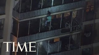 Philly Man Scales Down 19 Floors Of Apartment To Safety | TIME