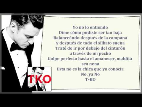 Justin Timberlake - TKO (Traducida // Subtitulada al ESPAÑOL)