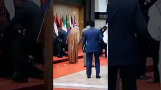 الرئيس اللبناني يسقط أرضا قبيل التقاط الصورة الجماعية للقادة العرب في البحر الميت