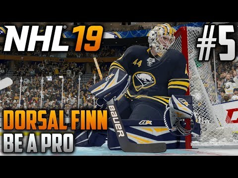 NHL 19 Be a Pro | Dorsal Finn (Goalie) | EP5 | FIRST CAREER SHUTOUT?