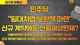 """민주당 """"임대차법 보완책 마련""""..신…"""