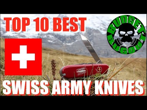 Top 10 Best Swiss Army Knives -- Visit to Switzerland | Budget Bugout