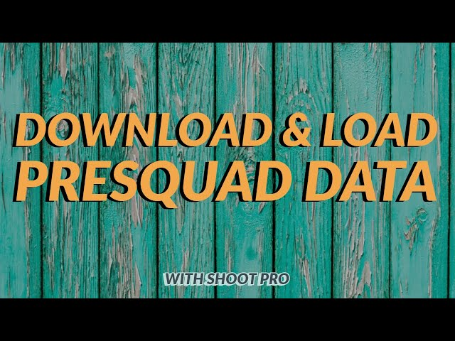 Downloading Presquad Data | 3S Shooting Sports Software