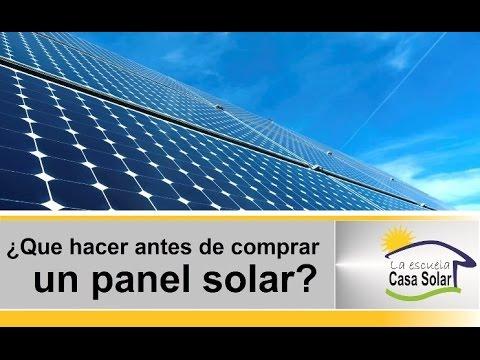 Que Debo Saber Antes De Comprar Un Panel Solar Youtube