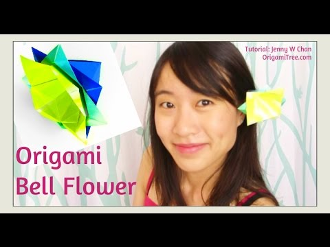 Paper Crafts Origami Flower Chinese Bell Flower Easy Paper