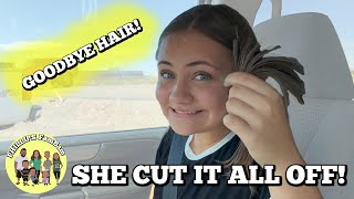 SHE CUT IT ALL OFF! | ASHLYNN GETS A HAIRCUT | PHILLIPS FamBam Vlogs