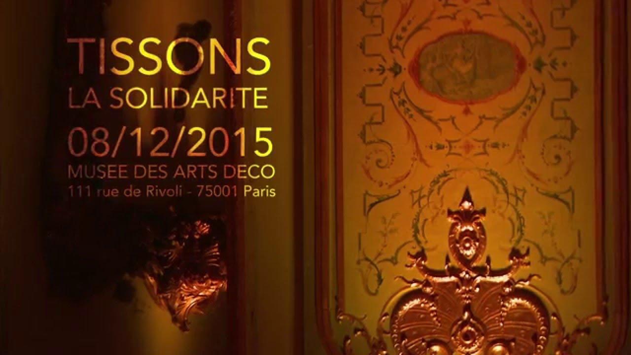 Rue De La Deco défilé tissons la solidarité 08/12/2105 musée des arts déco