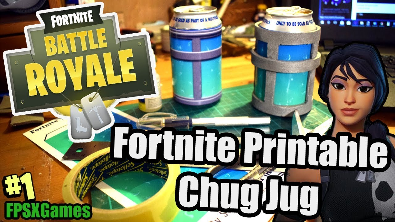 image regarding Printable Fortnite identified as Fortnite Printable Chug Jug