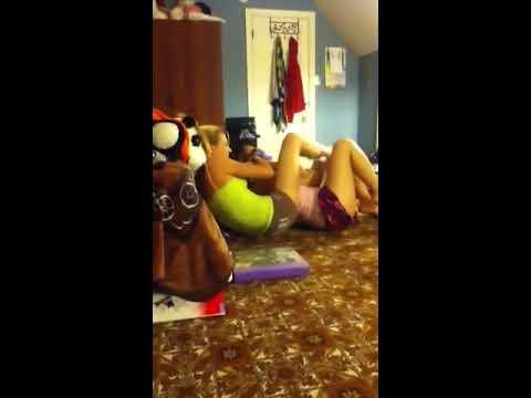 Kimberly scissoring me!