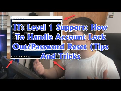 IT: Helpdesk Level 1 Dealing With Account Lock Out/Password Reset (Tips and Tricks)