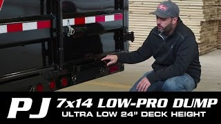#1 SELLER: 7 x 14 PJ Low-Pro Dump Trailer (DL) Walk-around
