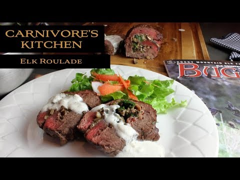 Carnivore's Kitchen - Elk Roulade with Creamy Gorgonzola Sauce
