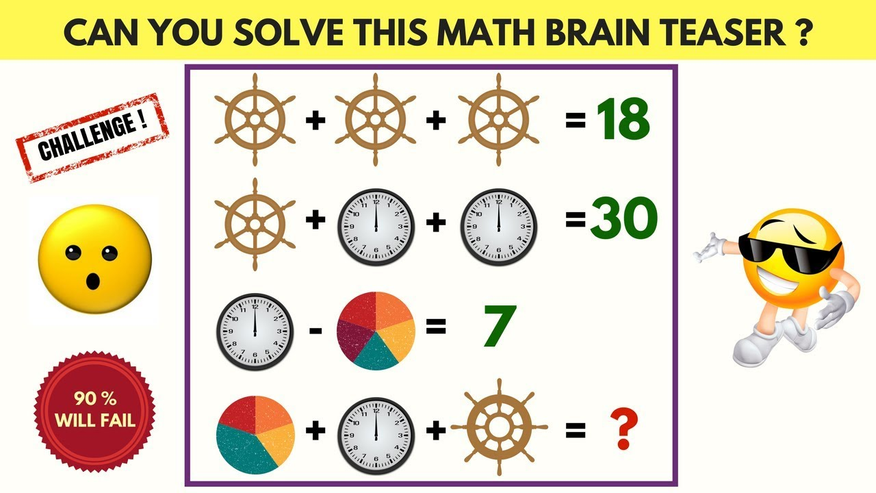 Can you Solve this Math Brain Teaser | Cool Maths Puzzles Games | IQ  Challenge | 90% WILL FAIL