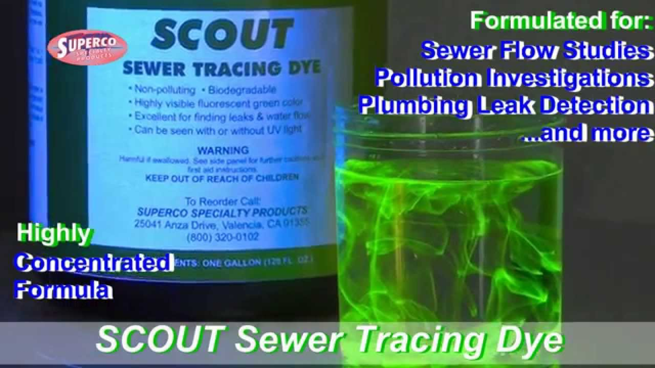 e0fb7acf181456 Scout Sewer Tracing Dye - YouTube
