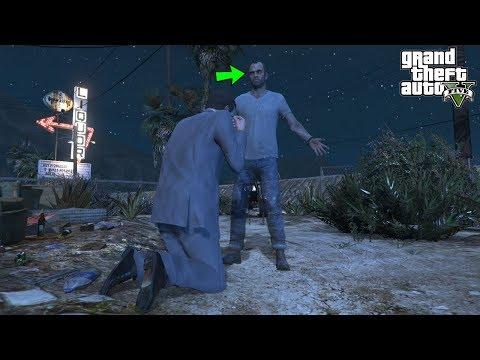 GTA 5: Michael FOUND Trevor's Ghost! (Funny Easter Egg)