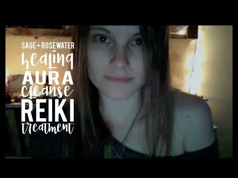Sage and Rosewater Healing Aura Cleanse Reiki Treatment- ASMR