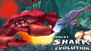 Hungry Shark Evolution - New Special Lava Shark The Pyro Shark Vs Boss Crab!