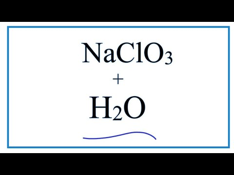 NaClO3 + H2O     (Sodium Chlorate + Water)