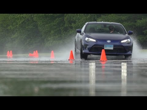 Wet Tire Testing at CR's Track   Consumer Reports