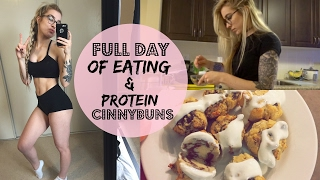 Full Day of Eating // Carbs Are Not The Enemy + HEALTHY HIGH PROTEIN CINNYBUNS!!!!!