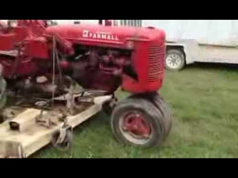 Farmall C With Woods Belly Mower Youtube