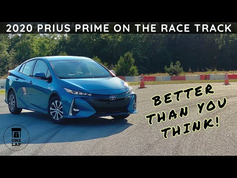 One Lap In The Prius Prime PHEV On The Race Track!