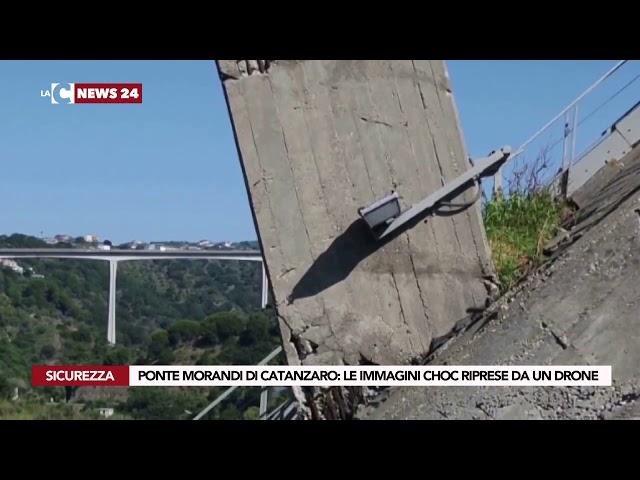 PONTE MORANDI DI CATANZARO LE IMMAGINI CHOC RIPRESE DA UN DRONE