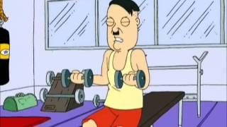 Family Guy Hitler at the Gym