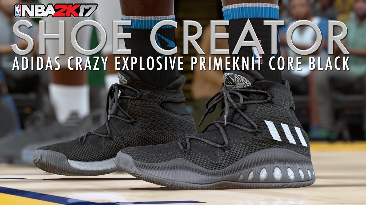 meet f01ae ab672 NBA 2K17 Shoe Creator Adidas Crazy Explosive - Core Black