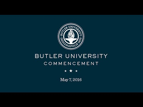 Butler University Spring Commencement 2016