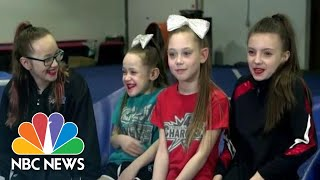 Dads Break Out Their Own Cheerleading Routine To Support Their Daughters | NBC Nightly News