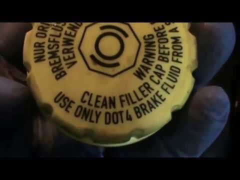 Citroen C3.  Replace brake fluid. Video 17 of 20.