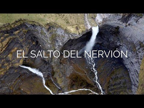 El deshielo en el salto del Nervión. Imagenes aéreas en 4K