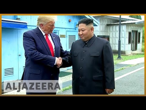 Trump meets Kim, makes history by stepping into North Korea