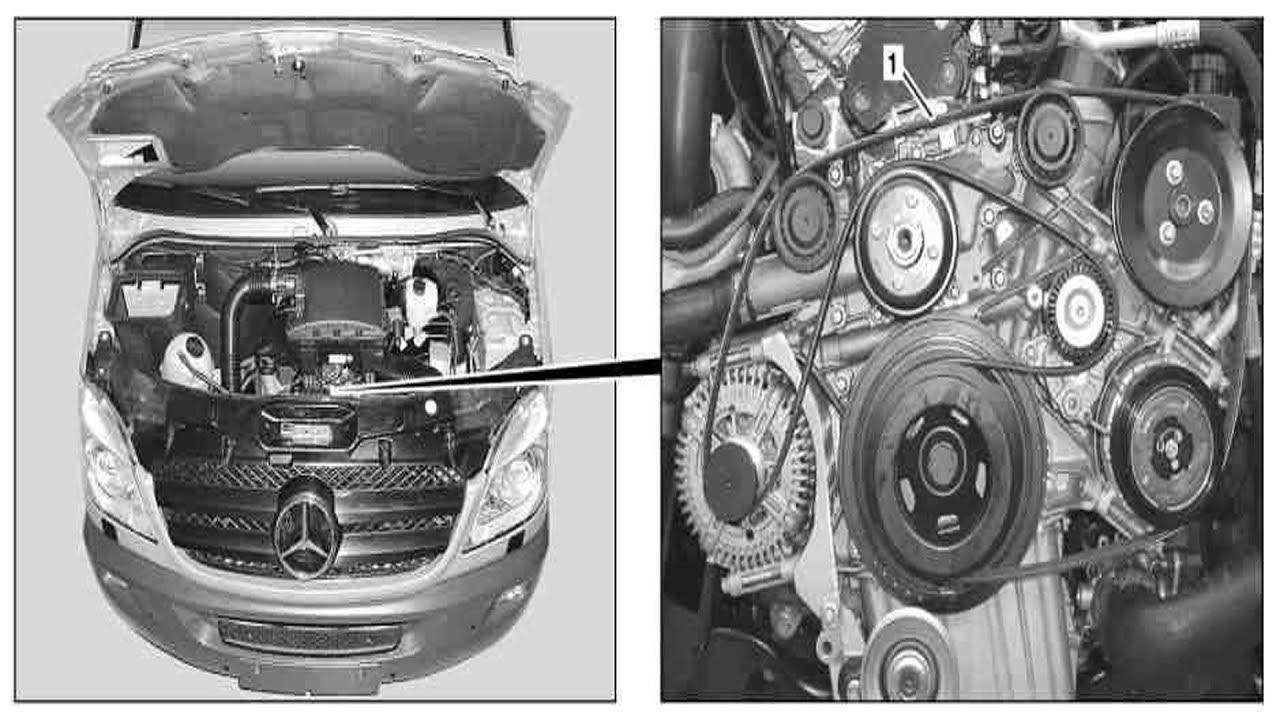 medium resolution of inspect poly v belt for wear and damage on sprinter model 906