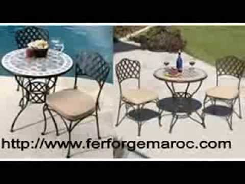 salon jardin fer forg fer forge salon de jardin mobilier exterieur youtube. Black Bedroom Furniture Sets. Home Design Ideas
