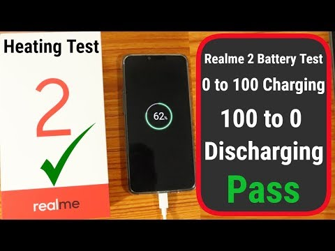 Realme 2 Battery drain test   0 to 100  100 to 0  Heating Test